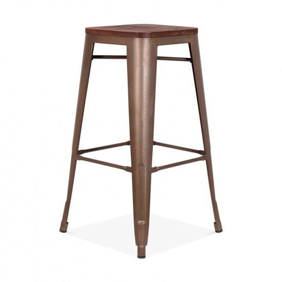 Барный стул Tolix Wood 75 Dark (Толикс Вуд 75 Дарк)
